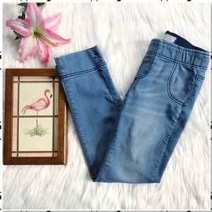 Free People Pull On Cropped Stretch Jegging Jeans